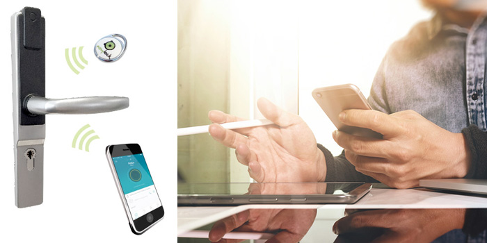 controle porte smartphone